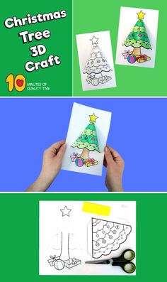 Most current Snap Shots sunday school Crafts for Kids Concepts Returning to education could be a intimidating time period for virtually any child. 3d Christmas Tree Card, Christmas Trees For Kids, Preschool Christmas, Christmas Activities, Christmas Art, Christmas Projects, Holiday Crafts, Sunday School Crafts For Kids, Winter Crafts For Kids