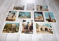 Architectural monuments of Central Asia - vintage postcards - unused postcards - soviet postcard - retro card - blank postcards - set of 10 (18.00 EUR) by LupusShop