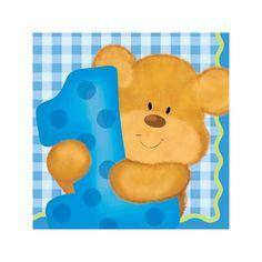 Bears 1st Birthday Boy Beverage Napkins 16ct