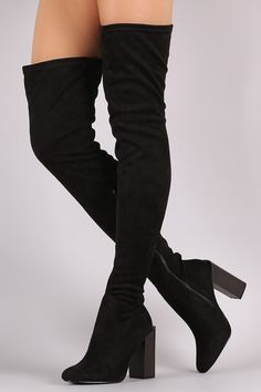 Description These fashionable boots feature a round closed toe, chunky stacked heel, and pull on construction with partial side zipper closure. Finished with cushioned insole for comfort. Material: Ve