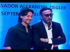 Tiger Shroff & Jackie Shroff at Sajid Nadiadwala's French Honour Ceremony. White Smile, Tiger Shroff, Dance Moves, My Crush, Burns, Mirrored Sunglasses, Bollywood, Interview, French