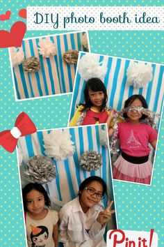 at-home parties....using crepe papers as background and tissue papers ...