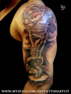 Tattoo Ideas On Pinterest Atlas Tattoo Greek Mythology Tattoos And