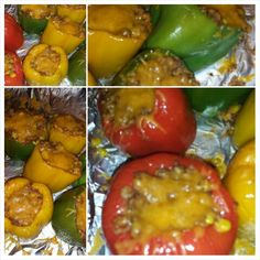 Stuff bell peppers made by #chefjanetcook