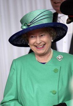 Queen Elizabeth, 2001. Love this picture for Queen Elizabeth II.