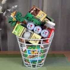 DIY Gift Idea: Golfer's Gift Basket. I've made one of these myself and it turned out adorable!