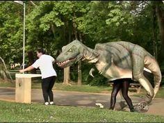 Dinossauro no Parque - Pegadinha Silvio Santos INÉDITA - YouTube