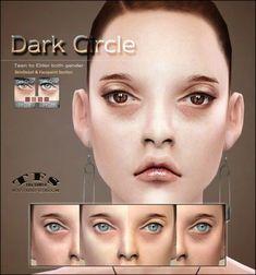 Dark Circle eyebag skindetail & facepaint at Tifa Sims The Sims, Sims Cc, Sims 4 Cc Skin, Dark Under Eye, Wash Your Face, Perfect Skin, Skin Firming, Korean Skincare, Dark Circles