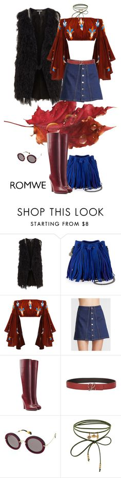"""Denim Skirt"" by aroamoda ❤ liked on Polyvore featuring STELLA McCARTNEY, Sonia Rykiel, Loewe, Miu Miu and Accessorize"