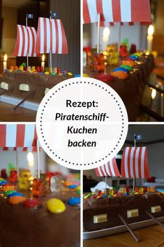 Recipe: Bake pirate ship cake for the children's maritime birthday. A real pirate party needs a Pirate Ship Cakes, Baklava Cheesecake, Bateau Pirate, Crochet Bookmarks, Marble Cake, Baking With Kids, Party Needs, 4th Birthday Parties, Types Of Yarn