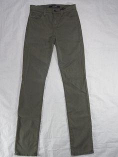 J BRAND mid rise rail CYPRESS luxe sateen skinny stretch women's jeans SIZE 25