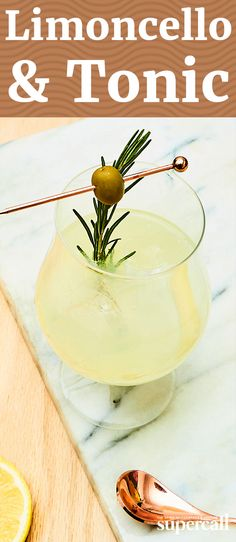 Forget the gin; instead, add some limoncello to your tonic. This tangy, subtly bitter, lemon-luscious cocktail is the quintessential Italian Highball—especially during the warmer months. It comes garnished with a sprig of fresh rosemary for flavor and aromatics, along with a somewhat unexpected buttery Castelvetrano olive.