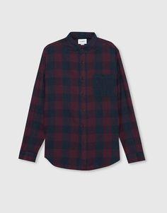 Camisa cuadro damero melange - Camisas - Ropa - Hombre - PULL&BEAR Colombia