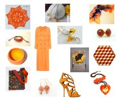 """""""Orange delights"""" by einder ❤ liked on Polyvore featuring interior, interiors, interior design, home, home decor, interior decorating, Shamballa Jewels, Giuseppe Zanotti and Sies Marjan"""