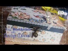 DIY: Caixa Scrap DeCor   Caixa Menina Flor   Livia Fiorelli   LifeArtesanato   Faça Você Mesmo - YouTube