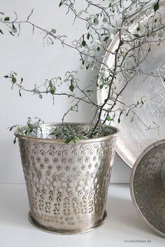 Blumentopf Aluminium Silber