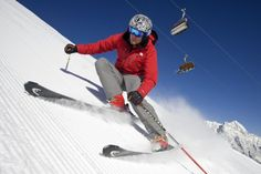 Carving auf perfekt präparierter Piste: In Saas-Fee (Schweiz) sind die Skifahrer mit dem Zustand der Pisten am meisten zufrieden.