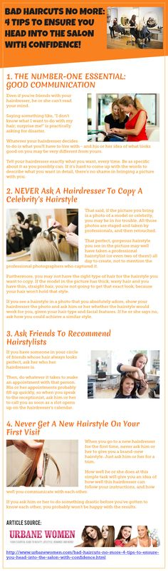 Bad Haircuts No More: 4 Tips To Ensure You Head Into The Salon With Confidence!
