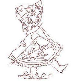 """* Sun Bonnet Sue Embroidery """"April Showers"""""""