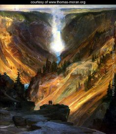 The Grand Canyon of the Yellowstone 2 - Thomas Moran - www.thomas-moran.org