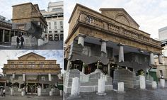 The floating market of Covent Garden: Find out how artist created this stunning optical illusion which makes building appear to have broken free from its foundations