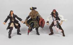 Pirates of the Caribbean Davy Jones Jack Sparrow Will Turner Action Figures Davy Jones, Jack Sparrow, Will Turner, Pirates Of The Caribbean, Movie Characters, Movie Tv, Action Figures, Art, Art Background