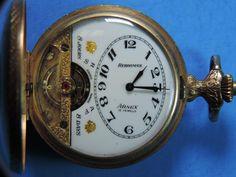 Antique Hebdomas Arnex 8 Days Full Hunter 15J Movement Running Pocket Watch #Hebdomas
