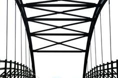 Symmetrical Bridge Black and White by emrevgenphotography on Etsy copyright Emre EVGEN