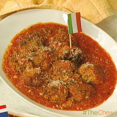Michael Symon's Beef and Ricotta Meatballs #TheChew