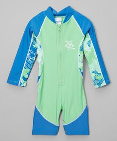 This Emerald Turtle One-Piece Rashguard - Infant & Boys is perfect! #zulilyfinds