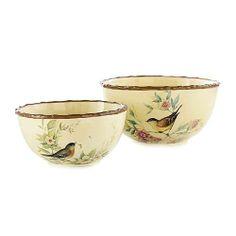 Large and Medium Serving Bowls.  Celebrating Home, Susan Winget collection