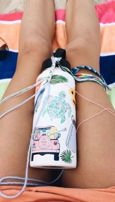 Stickers are a fun way to personalize anything, from Hydroflasks to phone cases. There are tons of fun ways to decorate with stickers! Summer Goals, Summer Fun, Summer Nights, Hydro Flask Water Bottle, Cute Water Bottles, Summer Aesthetic, Womens Fashion Online, Bracelet Making, Summer Vibes