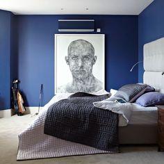Zeitgenössische Blau Schlafzimmer Wohnideen Living Ideas