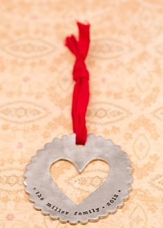 scalloped heart ornament  #coolholiday