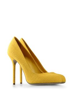 836cd4892a4 Sergio Rossi  want YELLOW PUMPS! Sergio Rossi Shoes