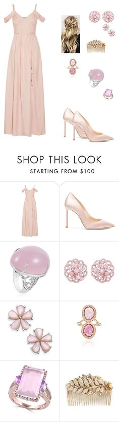 """""""What is Love?"""" by lemonsandroses on Polyvore featuring Rachel Zoe, Jimmy Choo, Emilio!, Effy Jewelry and Miriam Haskell"""