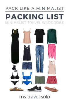 How to Create a Minimalist Travel Wardrobe - ms travel solo - How to Create a Minimalist Travel Wardrobe – ms travel solo The Effective Pictures We Offer You A - Packing List For Travel, Travel Tips, Packing Tips, Vacation Packing, Cruise Vacation, Disney Cruise, Travel Advice, Vacation Destinations, Travel Essentials