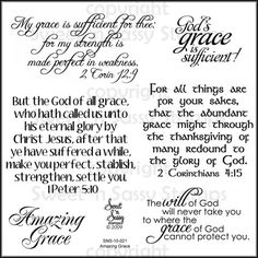 Sweet 'n Sassy Stamps LLC - Amazing Grace Clear Stamp Set, $11.00 (http://www.sweetnsassystamps.com/products/Amazing-Grace-Clear-Stamp-Set.html)