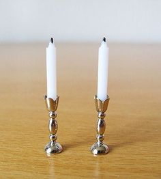 Tutorial: silver candlesticks, made with earring post and jewelry findings