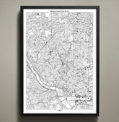 Our Washington DC map print poster is printed in black and white; both variations highlighting the abstract beauty and art of map making. It was during this year on these very streets that thousands of people participated in the March on Washington. This map captures a year of defining moments and can be yours to hang in your home or office. Choose between one of three sizes, all printed on high quality. #washington-dc-map-print
