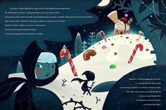 Hansel et Gretel | alxfactory.com Childrens Christmas Books, Childrens Books, Children's Book Illustration, Character Illustration, Book Illustrations, Book Cover Design, Book Design, Storyboard, Illustration Mignonne