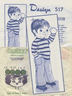Vintage Sewing Pattern for Doll | Mail Order 517 | Year 196? | Doll Size 12"
