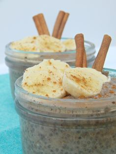 Banana Chia Pudding. So simple and healthy enough to have for breakfast. Dairy free, gluten free and vegan friendly!