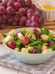 Ensalada de uvas y queso