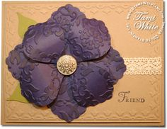 Great card with Stampin Up blossom punch
