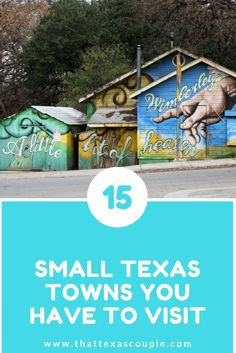 Planning a trip to Texas or just wanting to escape the city? Then this post is for you! Check out the 15 Texas towns on this post that help you to explore the great big state of Texas! Whether you're looking for a girl's getaway or a romantic weekend, we have you covered!/Fredericksburg/Grapevine/Boerne/Granbury/West/Gruene/DrippingSprings/Dublin/Luckenbach/MarbleFalls/NewBraunfels/Wimberley/Salado/Port Isabel/Johnson City/Texas small towns