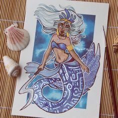 Raquel Travé Illustration — Mermaid Kida from Atlantis!   ❤   More on my...