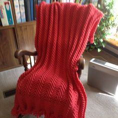 A personal favorite from my Etsy shop https://www.etsy.com/listing/495889776/flamingo-afghan-coral-throw-hand