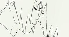 sasusaku kissing gif