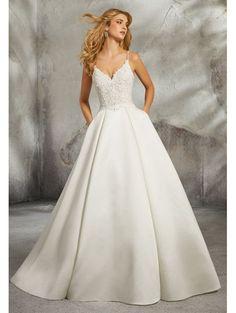 784b919760c Mori Lee 8272 Luella Classic Wedding Dress With Full Skirt Ivory Bridal  Wedding Dresses